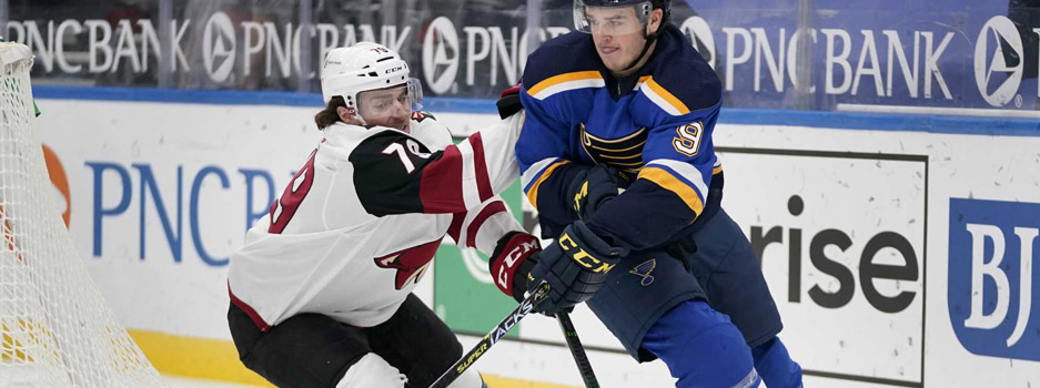 The St. Louis Blues try to make it two straight over the Arizona Coyotes when the two teams match up on Thursday night.